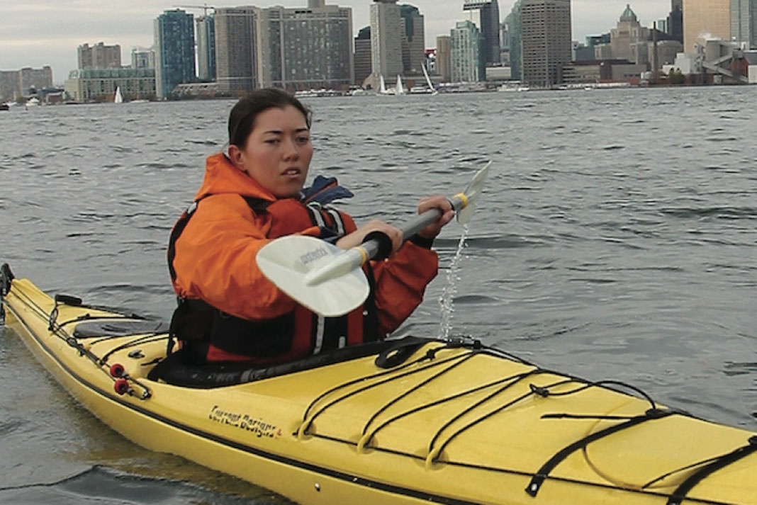 Kayaking in the redesigned 2004 Storm Sea Kayak by Current Designs