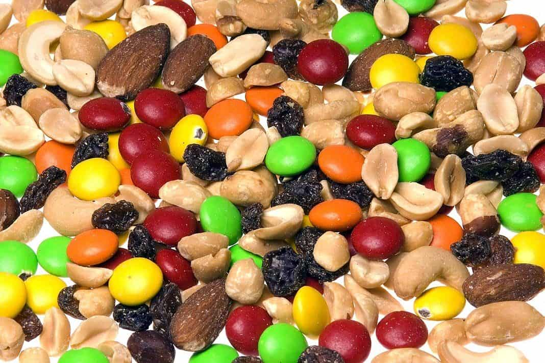 Trail mix with nuts and chocolate