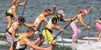 paddle board racers