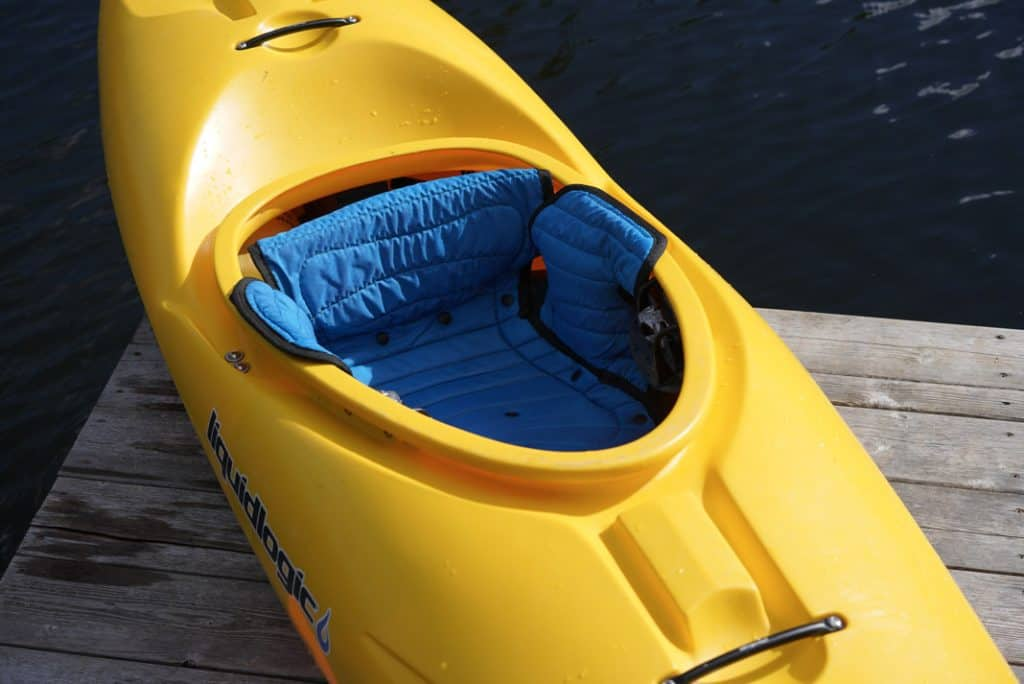 Liquidlogic Kayak's Delta V 88 whitewater kayak outfitting