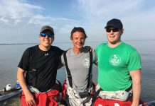 Kwin Morris and Joe Lorenz paddled 70 miles