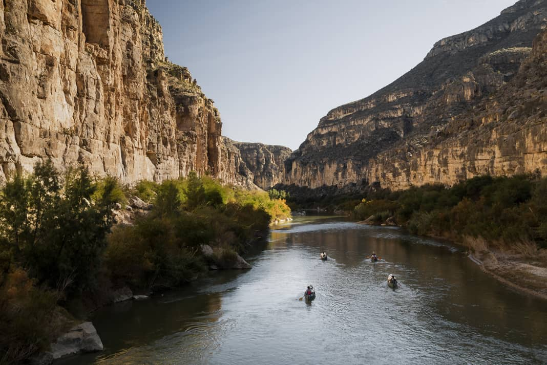 The natural canyon walls of the Rio Grande were formed by tectonics and erosion, free of charge. | Photo: Courtesy The River and The Wall
