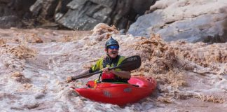 Lonnie Bedwell during a 2018 descent of the Colorado River. Photo: James Martin/Google Maps