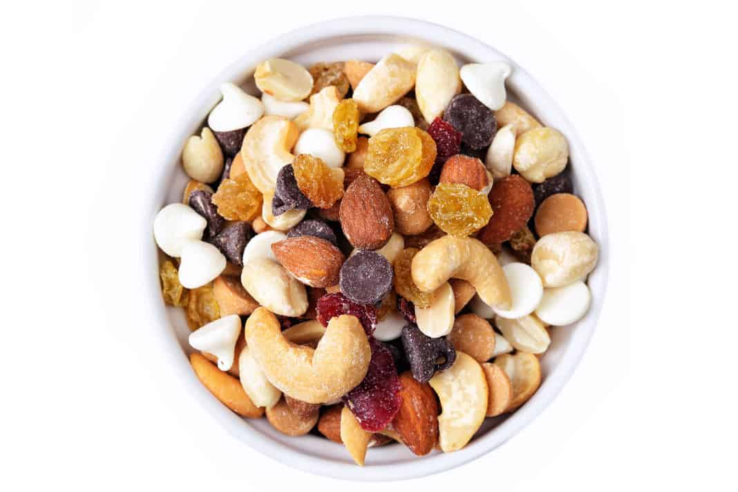 Q: Why can't you be friends with bags of trail mix? A: They drive everyone nuts. | Photo: istockphoto.com/dlinca
