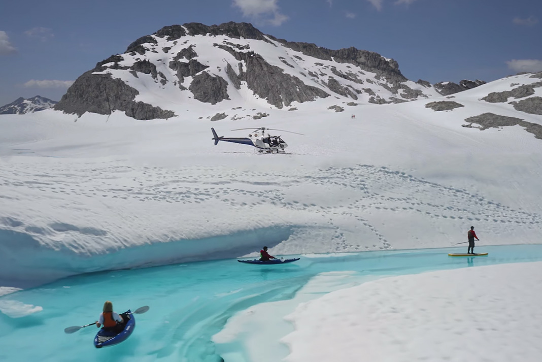 camping and glacier kayaking