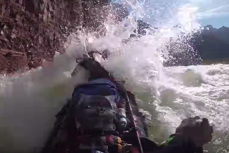 Insane Whitewater Canoeing Down Grand Canyon