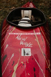 The New Wave's asymmetrical hull is notable for looking like an angular banana| Photo: Joe Vogel