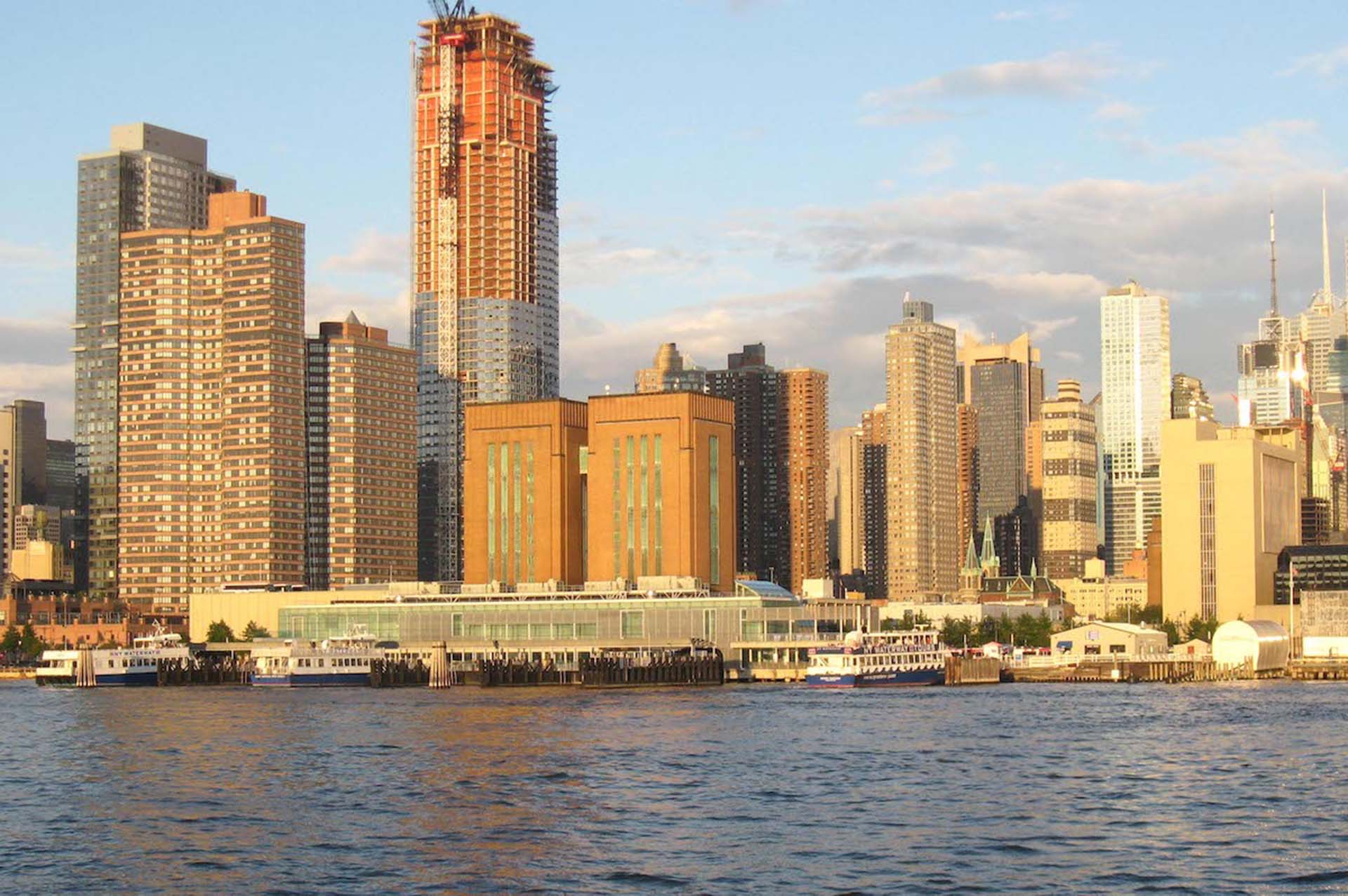 The Midtown Ferry Terminal in Manhattan, another busy spot with potential for kayak accidents