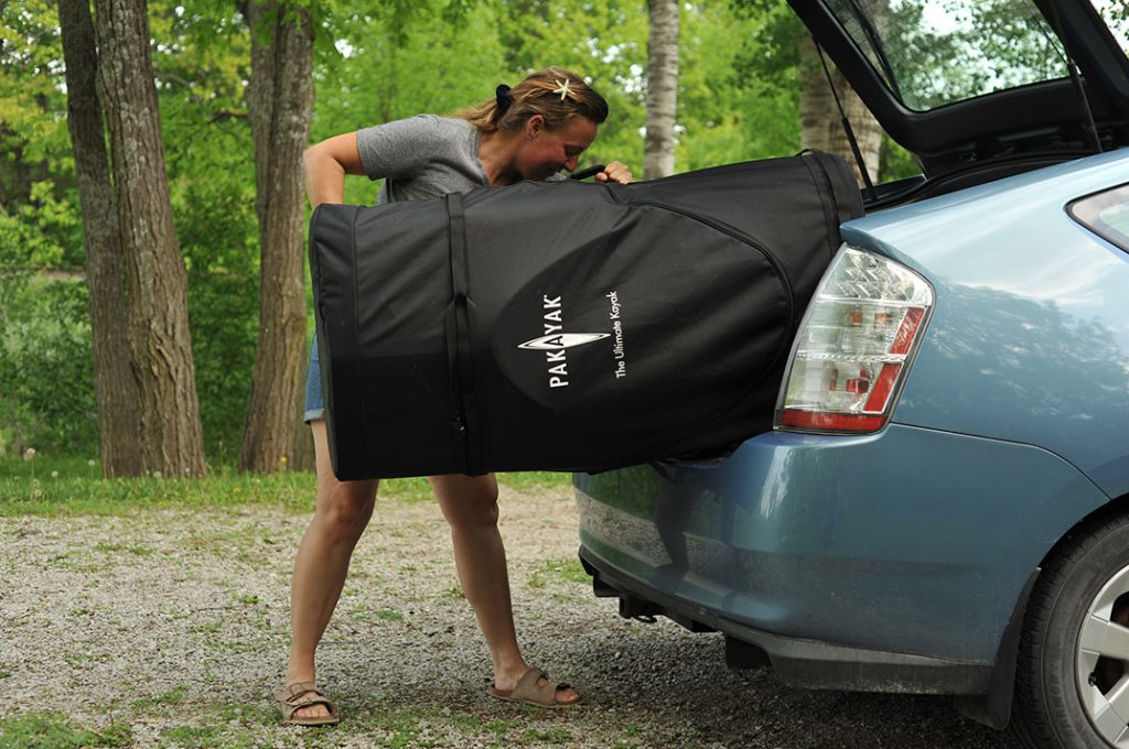 A rolling travel bag is included for transport to and from shore. | Photos: Virginia Marshall