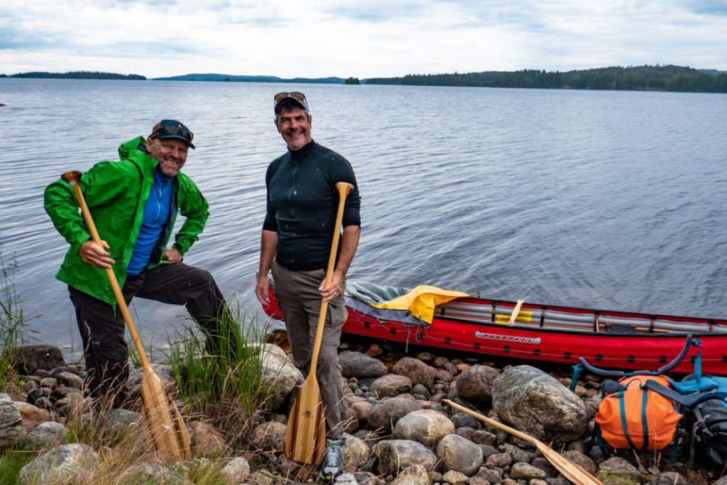 Frank Wolf (left) and Todd McGowan at the start of the journey at Lake Pielinen in Nurmes, Finland. | Photo: Frank Wolf