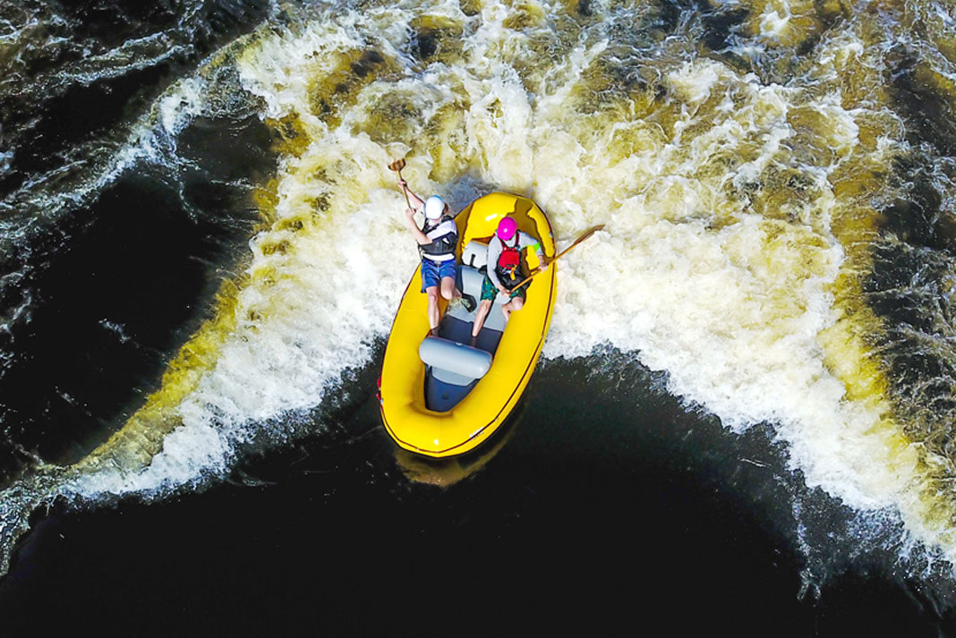 AIRE Cub going down the river