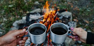 How to make cowboy coffee while camping