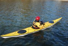 Paddling the Necky Eliza composite kayak for women