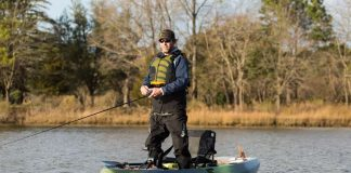 Inshore kayaks are stable for standup fishing.   Photo: Roberto Westbrook