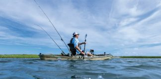 Install a fish finder where it won't interfere with paddling or fishing. | Photo: Courtesy Garmin