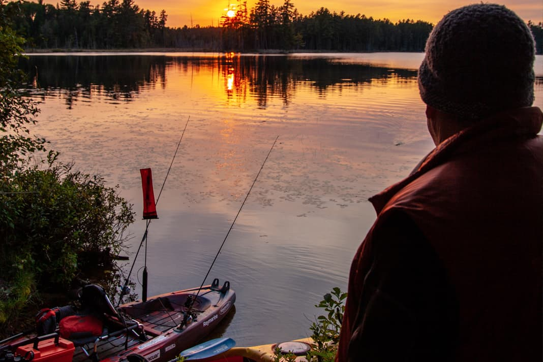"""I love shooting and fishing around my home in Canada."" 