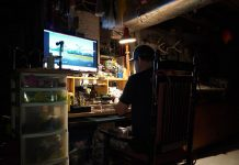 Angler works in his man cave