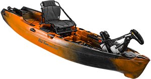 Cut out of Old Town AutoPilot fishing kayak